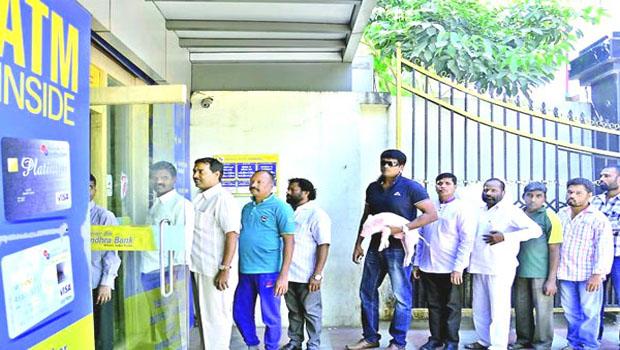 ravi babu in queue with adigo hero