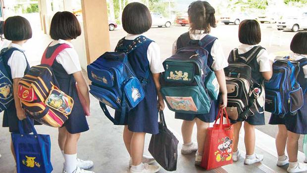 no school bag for children