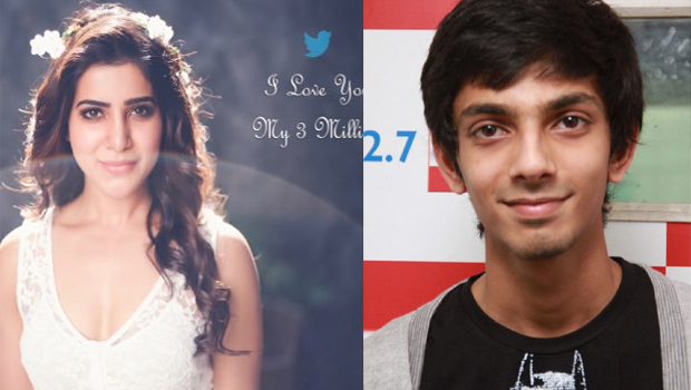 samantha tweet about engagement of anirudh