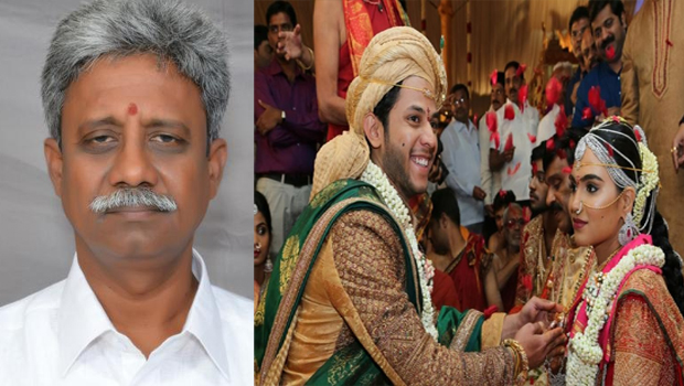 manikyala rao went to gali home for giving blessings gali daughter