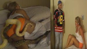 Prankster Dumps Live Python On Sleeping Girlfriend