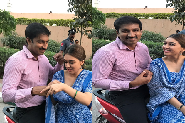 Hansika Shares Gopichand Movie Shooting Pics