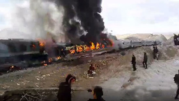 Passenger trains accident in Iraq