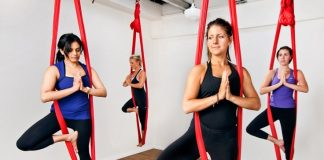 do ariel yoga to be healthy