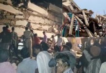 Building collapse in Nanak Ram Guda At Hyderabad