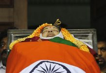 Tamila nadu C.M jayalalitha Passed away