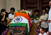 jayalalitha funeral today evening