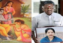 cm o panneerselvam like Jayalalithaa's modern age Ramayan