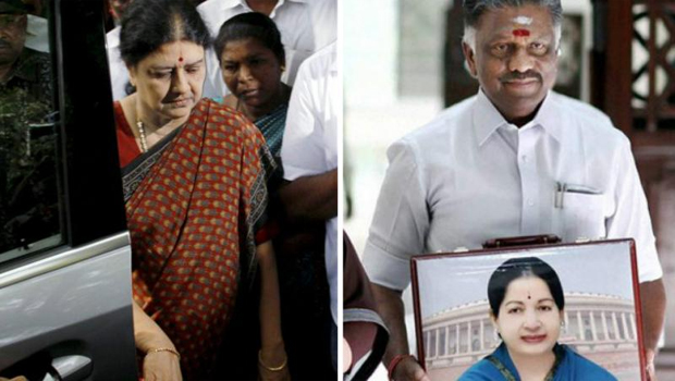 Panneerselvam senior ministers and functionaries meet Sasikala at Poes garden