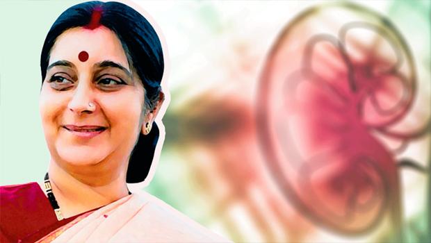 sushma swaraj kidney transplant operation success