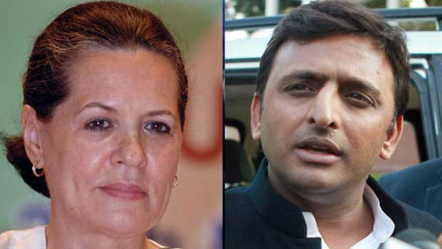 sonia gandhi and akhilesh are together