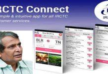 suresh prabhu launched irctc rail connect app