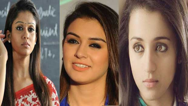 nayantara and trisha serious on hansika