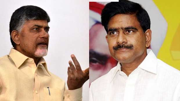 chandrababu disappointed on devineni uma