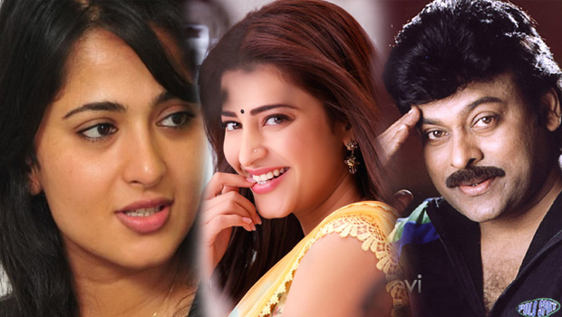 sruthi hassan to replace anushka in chiru next movie