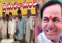 kcr birthday celebrations at tenali andhra pradesh