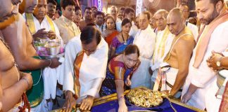kcr family in tirumala temple