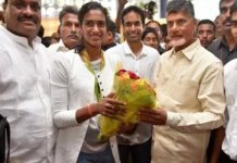pv sindhu take charge as ap deputy collector
