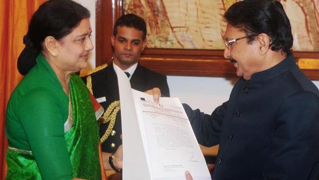 sasikala wrote letter to governor vidyasagar rao