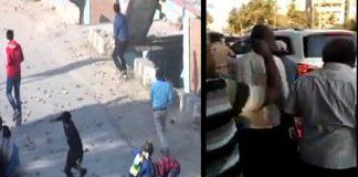 Tamil Nadu peoples stones on AIADMK party MLA's cars