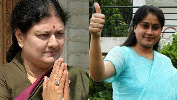 vijayashanthi support to sasikala