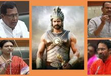 bahubali fever in telangana assembly