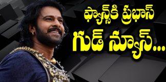 good news to prabhas fans