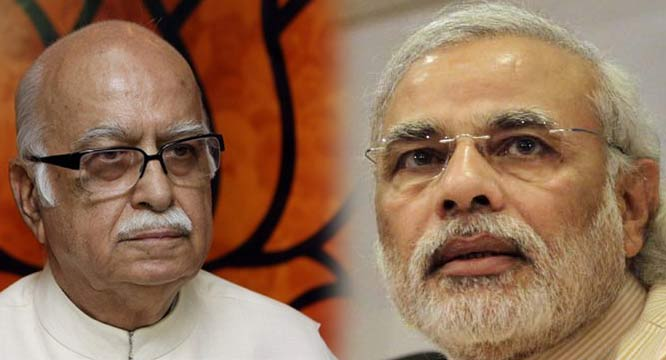 modi happy about indian president candidate selection because of advani side out