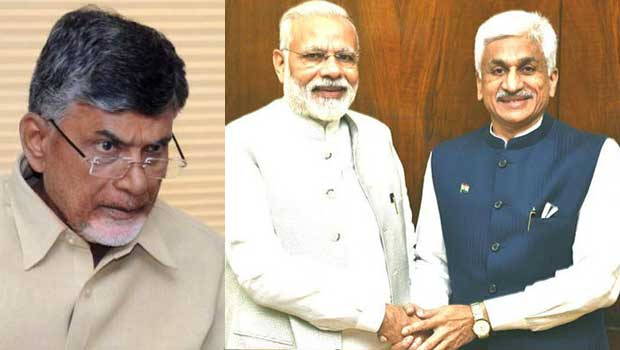 chandrababu tensed about ycp joining hands with modi