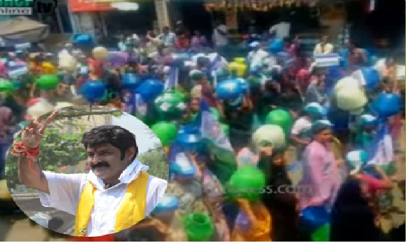 hindupur constituency people rally against balakrishna because of water problem