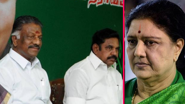 panneerselvam and palaniswamy merger plans sasikala in danger zone in aiadmk party