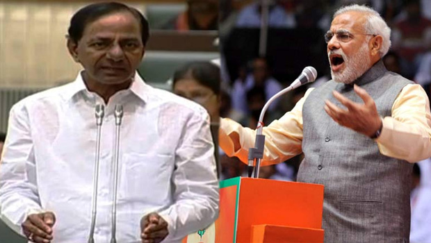 bjp leaders fires on kcr because of kcr want to try on muslims reservation