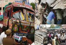 lorry accident in chittoor police station 20 people killed