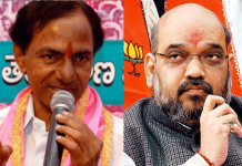 kcr counters to amithshah in telangana