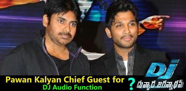 pawan kalyan cief guest for Alluarjun Dj Audio Fucntion