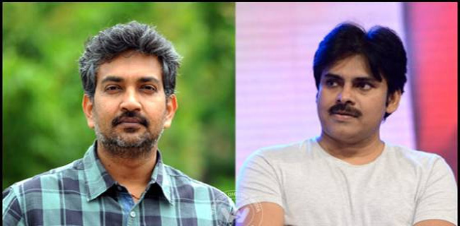 pawan fans feel happy because rajamouli new movie direction