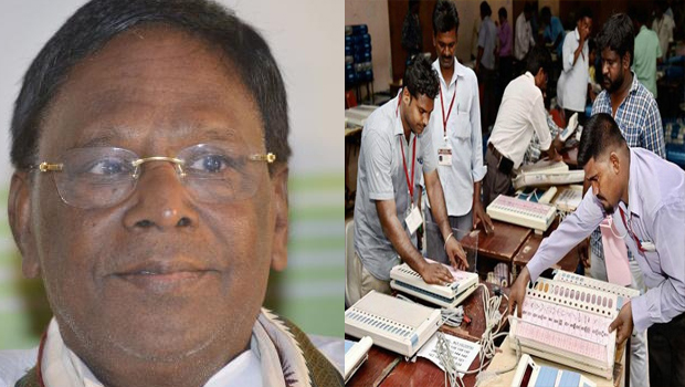 cm narayana swamy won in puducherry by elections