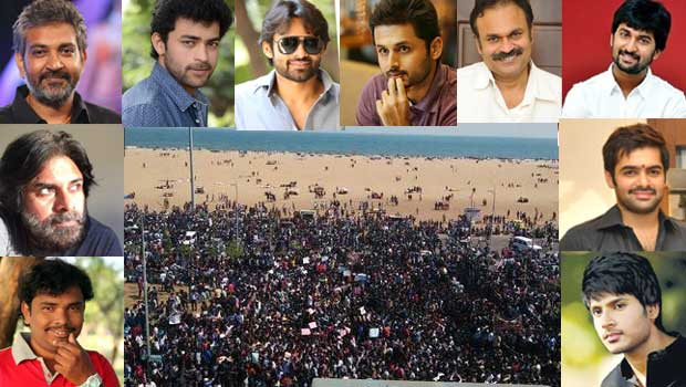 heros and directors tweets to support vizag beach rally