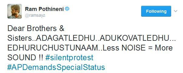 ram tweet about special status