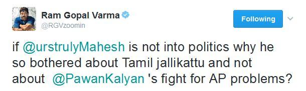 ram gopal varma tweet about special status