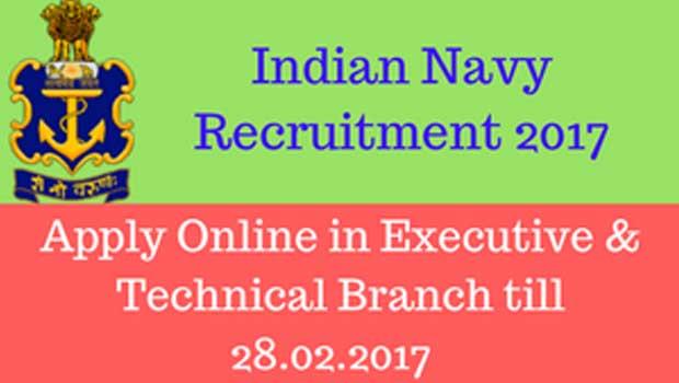 job notification in india navy