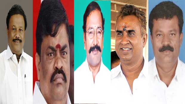 5 ministers out from seshikala party