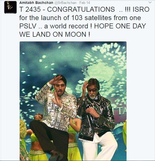 amitabh bachchan into isro rumours
