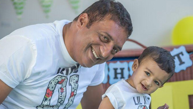 prakash raj and his son poses to camera same to same