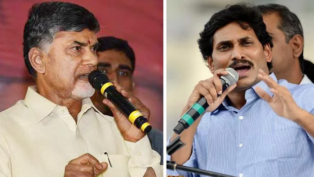 chandrababu and jagan in between elections results tie