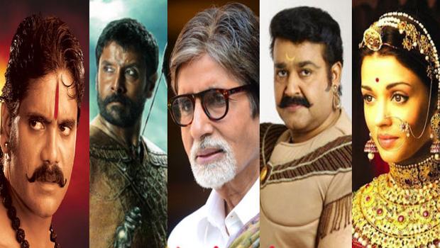 Mohanlal Aishwarya Rai Bachchan Amitabh Bachchan nagarjuna and Vikram in Randamoozham Malayalam Movie