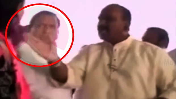 nayani narsimha reddy slap to trs leader mahender kumar