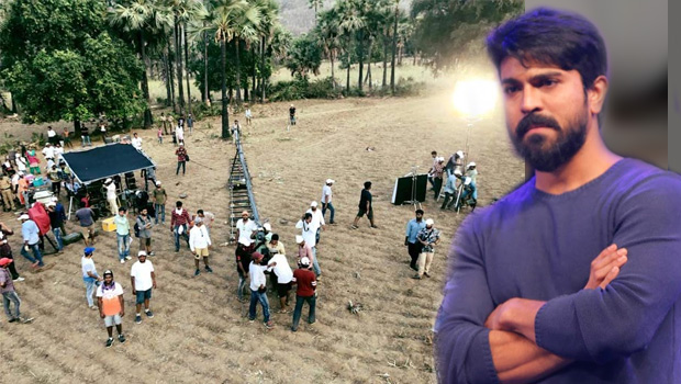 ram charan shooting troubles from sun in rajahmundry