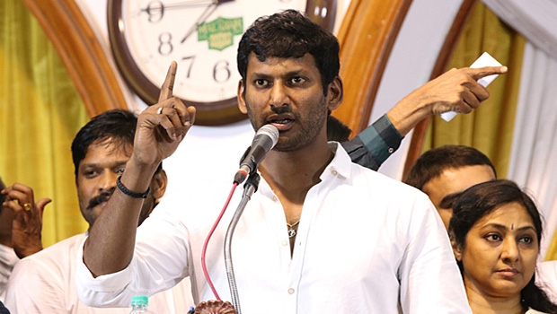 Vishal said to producers give One Rupee from Cinema ticket will go to farmers